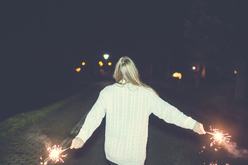Happy new year <3 Rear View One Person People Young Adult Silvester Night Portait Photography PortraitPhotography EyeEm Best Shots - People + Portrait Portrait Of A Woman Eye4photography  Eye4photography  Portraitist - 2016 Eyeem Awards Sparkler Sparkle Happynewyear Eyeem Photography Women Portrait Beauty The Week Of Eyeem Eyeemphotography EyeEm Gallery EyeEm Best Edits Beautiful People