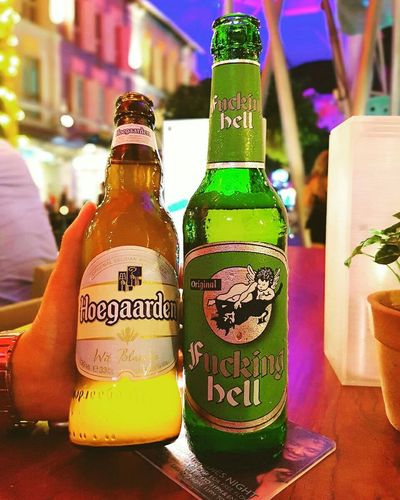 When Belgium🇧🇪 meet Germay🇩🇪 in Singapore🇸🇬! Hoegarden Fuckinghell Chilling Night Alcohol Drink Enjoying Life Chill Mode Eyeem Photography Oppo Photographer Chillaxing Chillin' Keepcalm Refreshment Phonecamera Hi! Friendstime Nightoutwithfriends