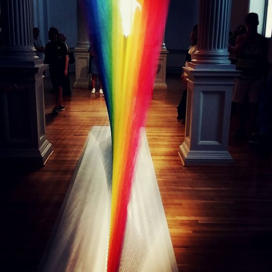 """Art is our one true gobal language. It knows bo nations, favour no race and it acknowledges no class..."" Richard Kamler Renwickgallery Rainbow Colors Madewithstrings"