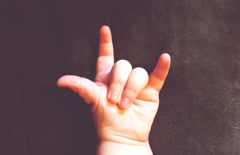 Child Child's Hand EyeEm Selects Human Hand Human Body Part Human Finger One Person People Hand Close-up Day Sign Language I Love You Ilu Love American Sign Language Finger Fingers One Subject Hand Sign Studio Shot Gesturing Black Background Showing Communication Real People Palm Indoors  Thumb Index Finger