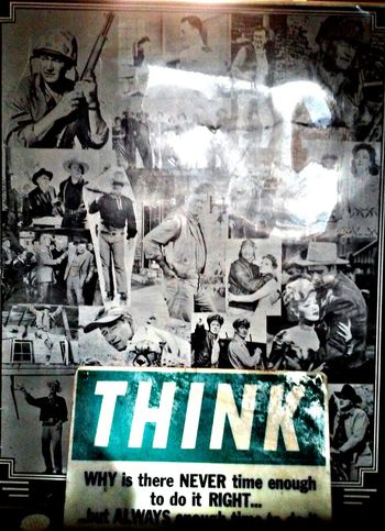 Think John Wayne Poster Sign this sits in my buddys house Pixlrapp