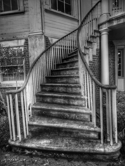 Stairs Stairway Blackandwhite EyeEm Best Shots Blackandwhite Photography AugustaGeorgia Abandoned Places Black And White