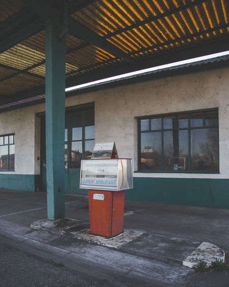 Abandoned Architecture Built Structure Day Gas Station No People Old Buildings One Person