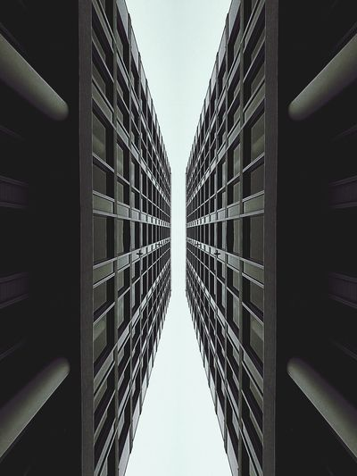 Architecture Directly Below Built Structure Building Exterior Tall - High Low Angle View Office Building Clear Sky Skyscraper City Building Window Repetition Symmetry Tower Modern Geometric Shape Sky Tall Day EyeEm Best Shots EyeEm Gallery Eye4photography