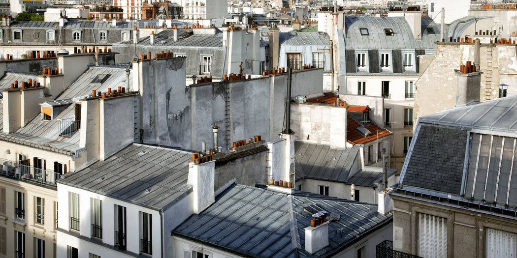 Architecture Building Exterior Built Structure City High Angle View House No People Outdoors Paris Residential Building Residential Structure Roof Roof Tile Roofs Of Paris Rooftop Sunlight Tourism TOWNSCAPE Travel Urban Landscape Urbanphotography