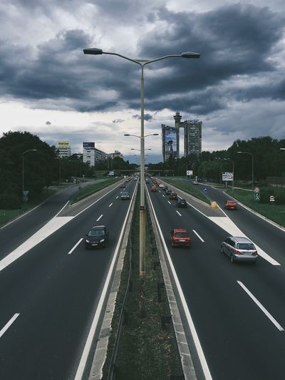 Cars Moving On Road