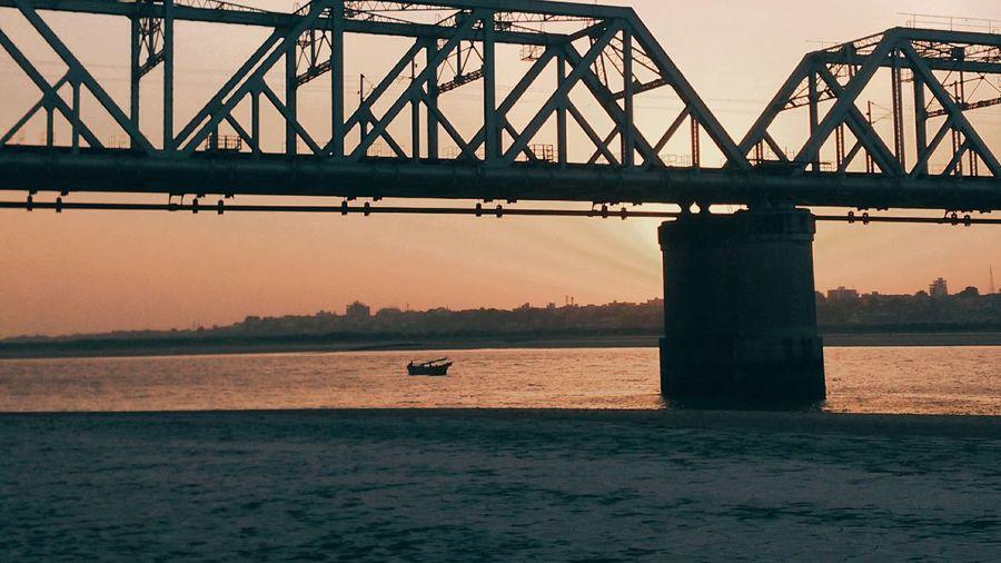View of bridge over sea