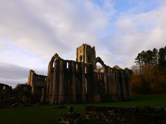 Abandoned Ancient Ancient Civilization Architecture Bad Condition Building Exterior Built Structure Cloud - Sky Damaged December December 2016 Fountains Abbey Fountains Abbey Yorkshire Fountains Abbey, Yorkshire History Old Ruin Outdoors Place Of Worship Religion Site Sky Spirituality The Past Tourism Travel Destinations