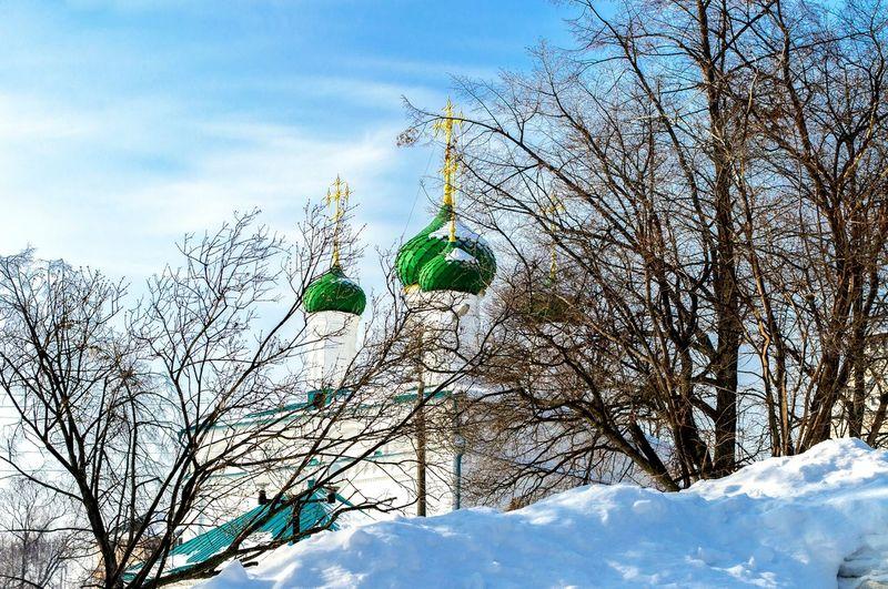 Cheboksary Cityscape Winter Church чебоксары пейзаж зима Церковь Church Of The Archangel Michael Церковь Михаила Архангела