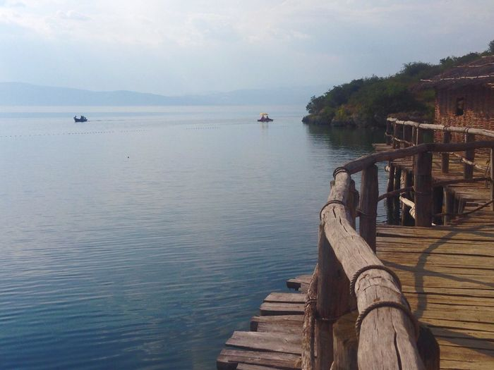Macedonia Ohrid Lake Wooden House Boat Water