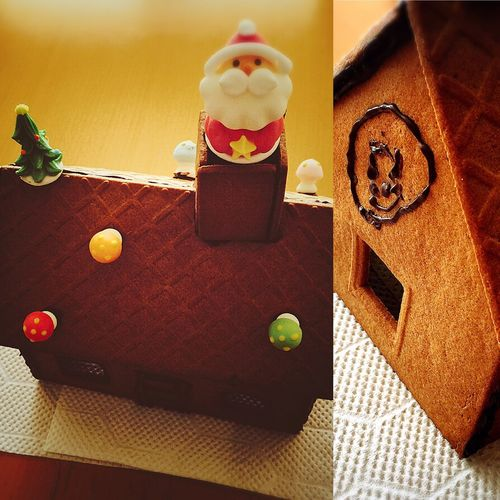 冬休みのとき。 遊びに来ていた、めいっちぃ(姪っ子)たちと一緒にクッキーハウスを作りました◡̈♪ チョコペンの絵は、アンパンマンだそうです。笑 クッキーハウス Cookie House Cookiehouse 冬休み