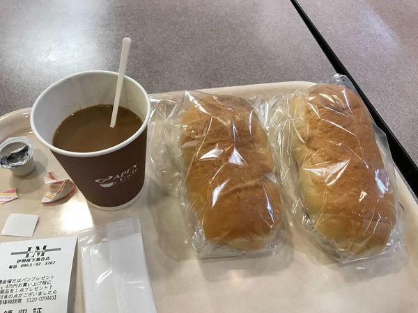 ブレンドコーヒーと塩パン