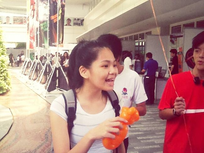 teddy balloon in my hand :D New Amk ITE Openhouse