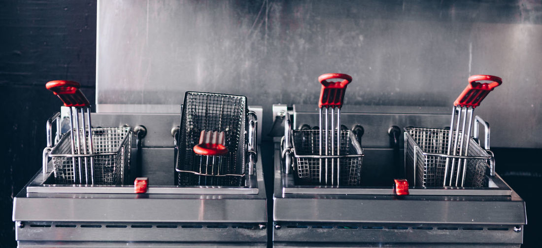 Industrial Deep fryer Fast Food Industrial Industry Lifestyle Restaurants City Day Deep Fried  Deep Fryer Deepfry Deepfrying Fast Food Restaurant French Fries Kitchen Lifestyles Metal No People Red Restaurant Restaurant Kitchen Shopping Silver Colored Steel The Still Life Photographer - 2018 EyeEm Awards