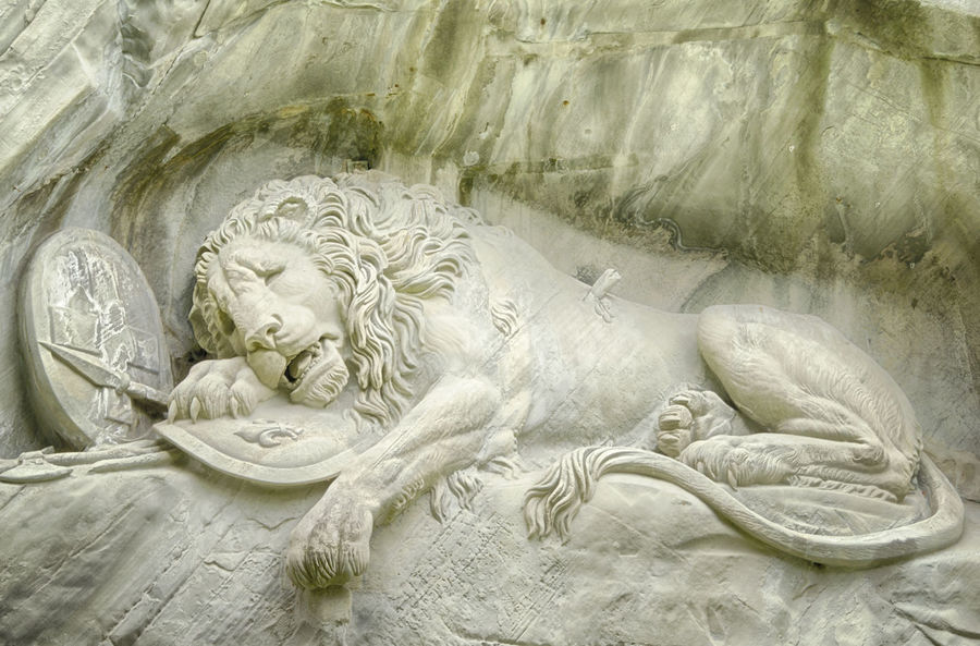 Lion of Lucerne Emotional Cliff Face Death French Revolution Lion Lucerne, Switzerland Solder Memorial Swiss Soldiers Tourist Attraction  Art Art And Craft Carved In Stone Close-up Day Dying Lion English Garden Style Garden Marble Monument No People Sad Sandstone Sculpture Statue Symbolic
