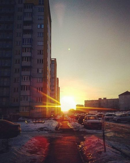 омск сибирь весна утро март восход Omsk Siberia March Morning Spring Sunrise