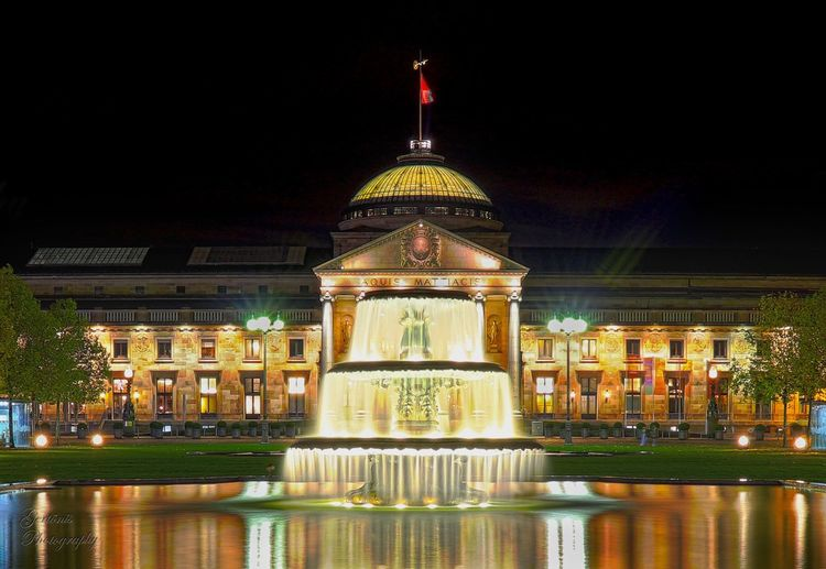 Night Architecture Water City Outdoors Illuminated Building Exterior Dome Built Structure Travel Destinations Travel Government No People Sky Luxury Hotel Politics And Government First Eyeem Photo
