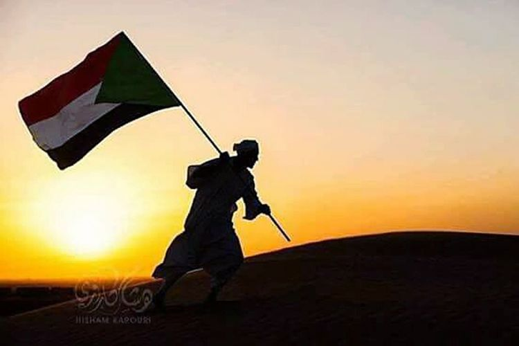 TakeoverContrast Sunset Sudan..♡ Flag Of My Country