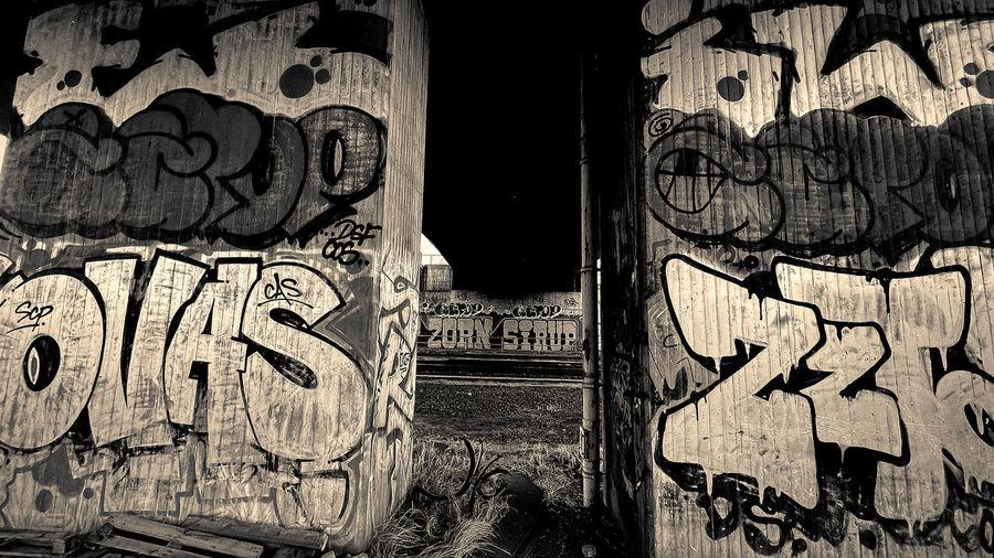 Graffiti on old wall