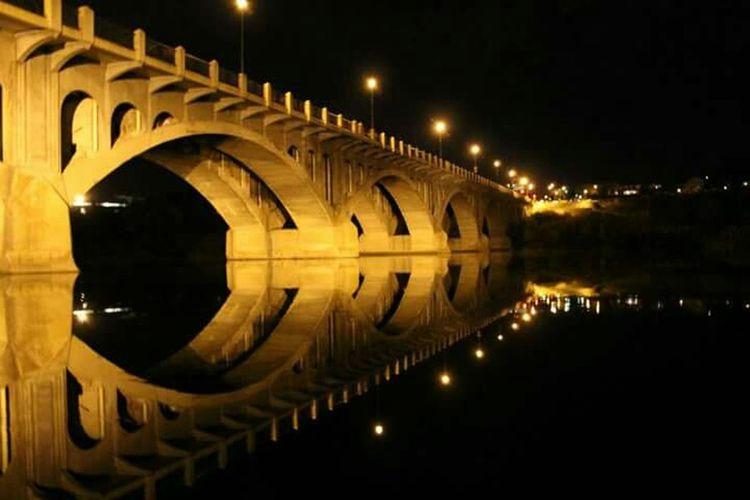 Nightphotography Reflection Water Reflections Mirrored Saskatchewan River Cityofbridges Saskatoon Saskatchewan