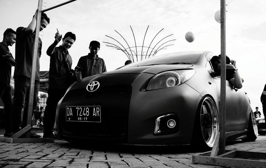Hellaflush Toyota Yaris Citralandbajarmasin CarShow Blackwhitephotography Photooftheday Outdoors Indonesia_photography