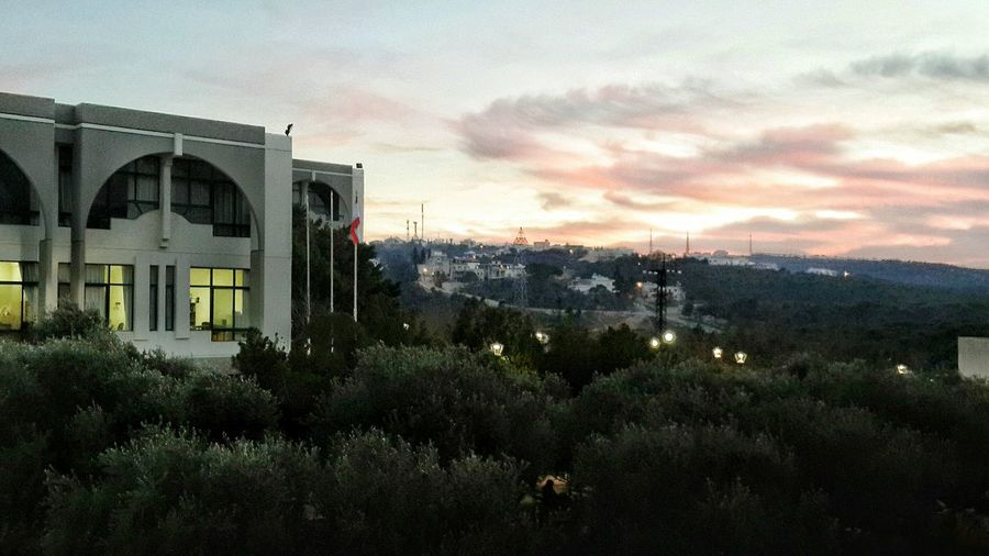 University Balamand Campus Green Clouds And Sky Sunset Koura Lebanon
