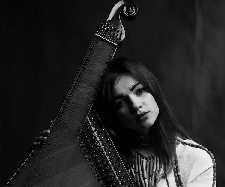 Marina, A Musician, Singer, Artist and A Model. K®Mz Photoshoot. Portrait Photoshoot Singer  Artist Model Blackandwhite Instrument Guangzhou China