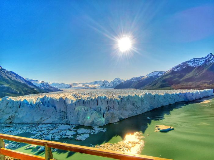 Perito Moreno Glacier Patagonia View Nature Photography Beautiful Nature Amazing #photography South America Beautiful Nature #nature_collection #EyeEmNaturelover #nature #EyeEm Nature Lover #eyembestshot Patagonia Argentina Naturelovers EyeEm Best Shots EyeEmNewHere EyeEm Nature Lover EyeEm Selects EyeEm Gallery Eye4photography  Nature_collection Nature On Your Doorstep Water Mountain Snow Lake Winter Clear Sky Sky Landscape Mountain Range Glacier Global Warming Polar Climate Ice Refraction Sun Calm