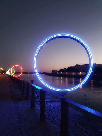 Nantes city neon
