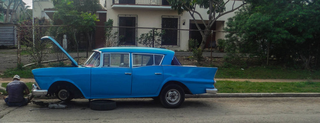 Broken Car Cuba Pastel Power Repairs Retro Retro Styled Transportation Travel Vintage Cars The Street Photographer - 2016 EyeEm Awards The Photojournalist - 2016 EyeEm Awards The Essence Of Summer Original Experiences