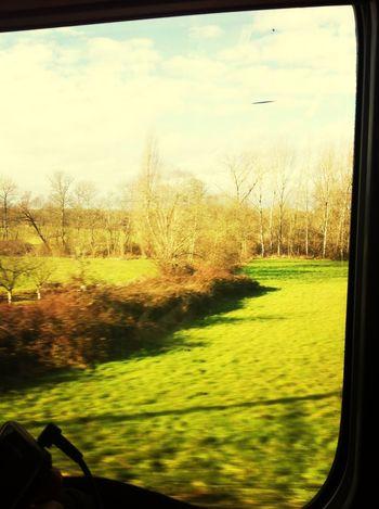 Dans le train pour poitier avec jeannou
