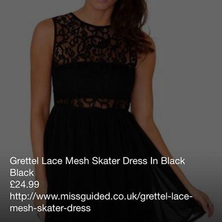 Getting the dressMisguided Dress SkaterDress Fashion moneyonlinepurchaseprettyblacklacegrettermeshskaterdressloveit