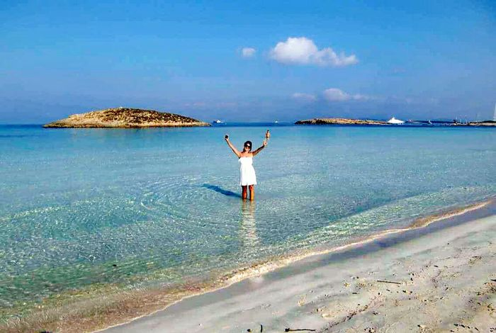 Formentera Island Water One Person Sea Full Length Sky Rear View Cloud - Sky Adults Only Outdoors Sand One Man Only Adult Scenics Beach Real People People Beauty In Nature Tranquil Scene Vacations Day