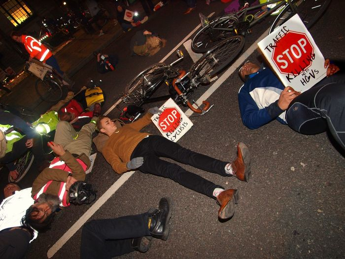 Stop Killing Cyclists. Vigil +Die-In. To honour cyclist killed by a heavy goods vehicle on Pentonville Road. Islington Town Hall. Upper Street. Islington. 08/11/2017 Steve Merrick Politics And Government London Cycling Campain Cycling Protestor Islington London Cyclists Protest Olympus Vigil Stevesevilempire London News Cyclist Protest Stop Killing Cyclists Zuiko