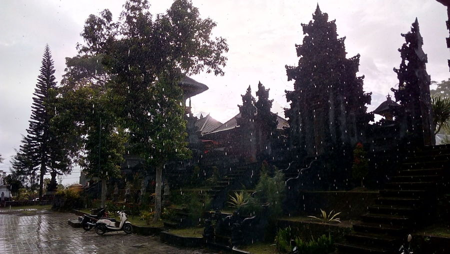 Village Village View Social Service Enjoying Life Temple Kintamani - Bali Bali INDONESIA Desa Suter Rainy Day New Talent