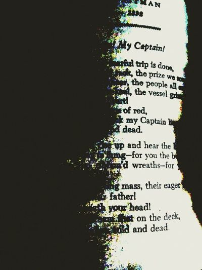 Dead Poets Society Walt Whitman Poetry Shadows & Lights see the capatin?