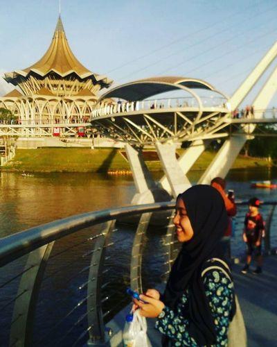 Darul Hana Brigde ❤ Malaysia first eyeem photo Tranquility Low Angle View Sky Brigdeovertroutwater