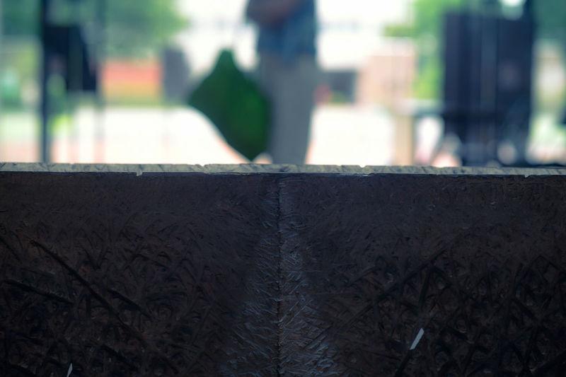 Close-up of metal wall
