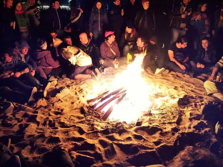 Vama Veche Bonfire Vama Veche EyeEm In Vama Veche Youth Night Party Beach Party Freedom Enjoying Life Night Fire