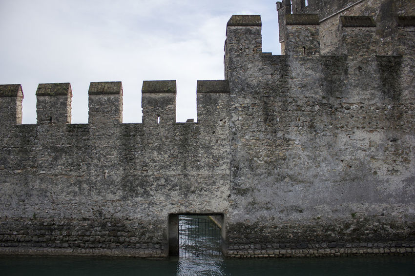Architecture Castle Historical Building History Lines Monument Oldtown Sirmione Sky Walls Building Exterior Built Structure Exterior