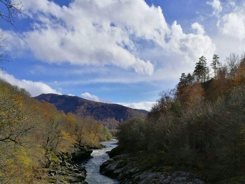 Адыгея река Белая Россия Russia River November Sun Autumn Adygeya Mountain Nature Stone HuaweiP9