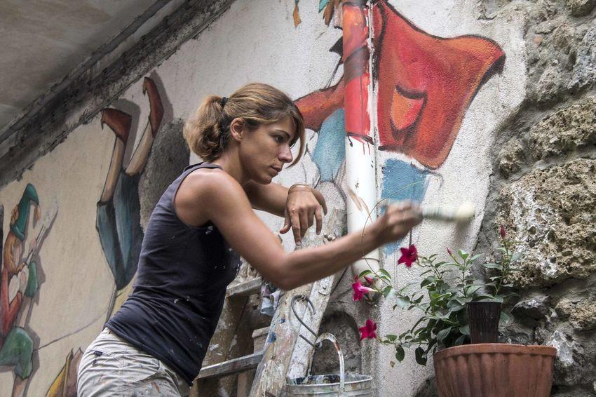 Artisti nel Borgo di Valogno Bella Italia Borgo D'Arte Colors Paint Terra Di Lavoro Borghi D'Italia Borgo Borgo Antico Murales Valogno