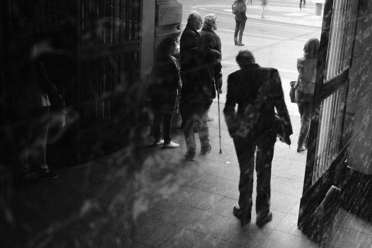 Zurich #1 Zürich City Group Of People Monochrome Street Streetphotography Switzerland Walking Work Life Balance