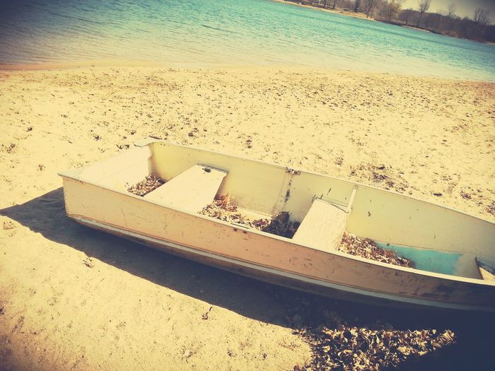 Lakeshore Beached Boat Summer Appedited
