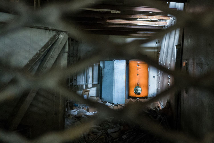 Abandoned Abandoned Places Blue Close-up Day Deterioration Dirty Désaffecté Factory Illuminated Messy No People Orange Order & Chaos Ruined Run-down Selective Focus Urbanphotography Urbex Urbexphotography Usinedesaffectee