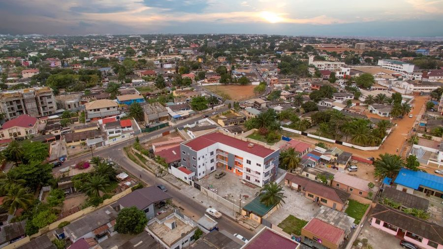 Apartments in the heart of Osu DJI Mavic Pro Dorofoto Onefotos Building Exterior Architecture Built Structure City High Angle View Building Sky Residential District Cityscape House