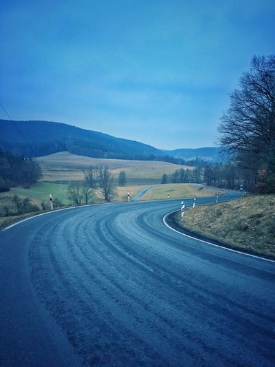 Landscape view , beautiful nature and road Mountain Scenics Nature Road Tree Tranquility Beauty In Nature Landscape Blue The Way Forward Tranquil Scene Cold Temperature Sky Non-urban Scene Day Outdoors No People Winding Road Nature Nature Photography Naturelovers Nature Is Art Landscapes Landscape Landscape Photography