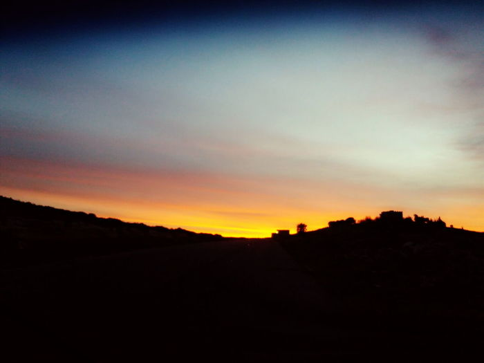 Sunset Silhouette Nature Landscape Beauty In Nature Scenics No People