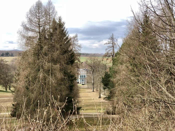 Schloss Wilhelmstal Architecture Bare Tree Building Building Exterior Built Structure Cloud - Sky Day Environment Field Growth House Land Landscape Nature No People Outdoors Plant Residential District Sky Tree