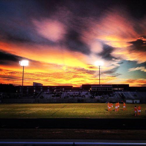 Thursday night lights. Lady Bengals vs Holly Springs women's soccer match. DeLeonStrong